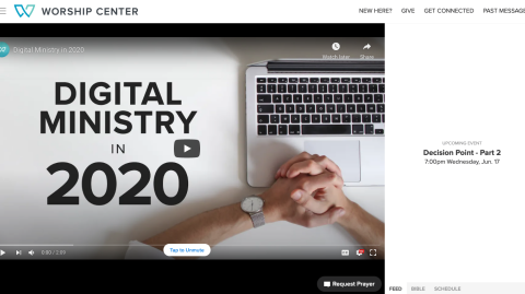 Worship Center Online upgrades digital church viewing experience